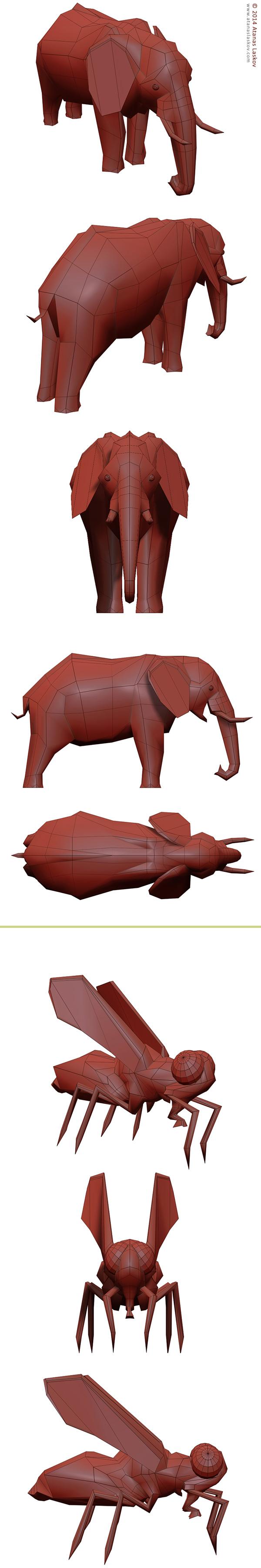 Laskov 3D Elephant and Fly