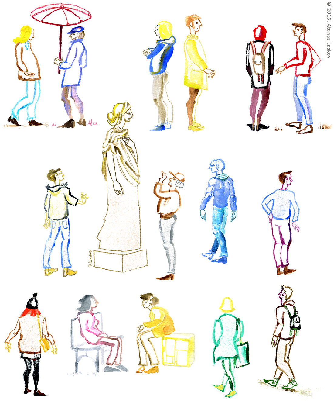 Laskov People Sketches