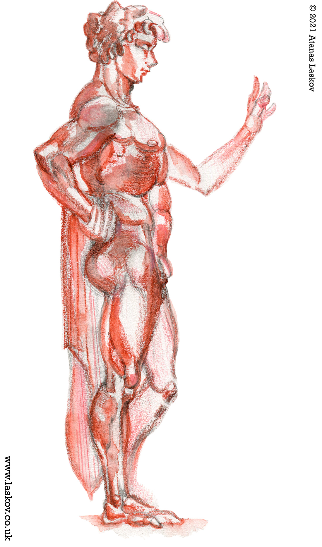 Figure drawing of Antinous
